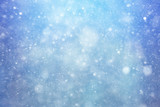 Snowfall texture of snowflakes on blurred background - 175319850