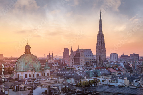 obraz PCV Vienna Skyline with St. Stephen's Cathedral, Vienna, Austria