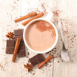 milk with cocoa and spices - 175324699
