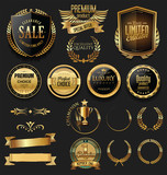 Luxury gold and silver labels retro vintage collection - 175328087
