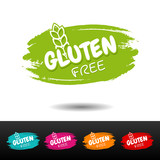 Set of Gluten free badges. Vector hand drawn labels. - 175329487
