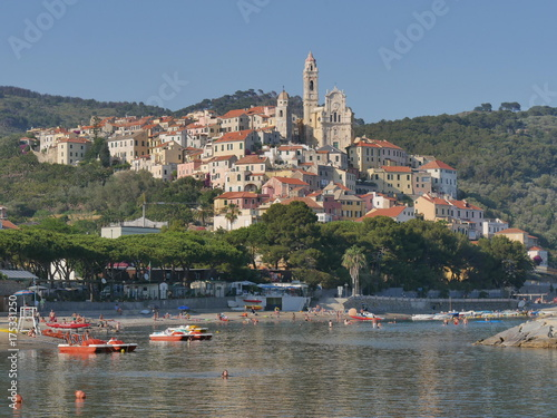 Foto op Canvas Liguria Cervo - panorama del borgo
