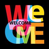 Vector Welcome. Broken text - 175339440