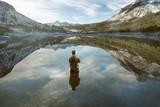 Angler in Bergsee