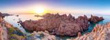 sonnenuntergang an der costa paradiso in sardinen - 175342287