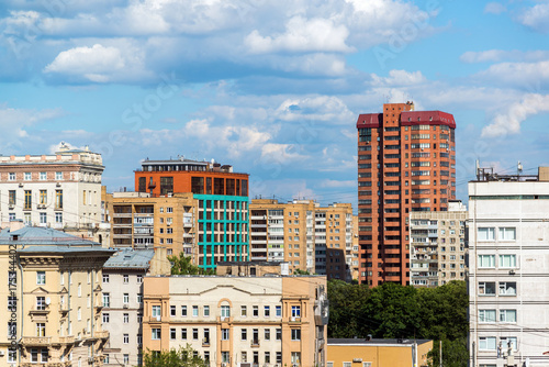 Aluminium Moskou Top view of Meshchansky district of Moscow, Russia