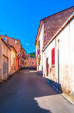 Little alley in an old village - 175345219