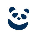 Isolated Panda Icon Symbol On Clean Background. Vector Bear Element In Trendy Style. - 175346644