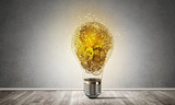 Concept of lightbulb as symbol of new idea. - 175347249