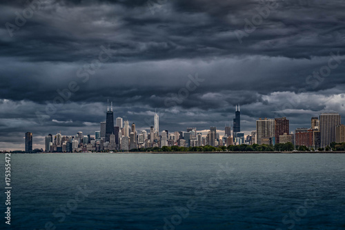 Fotobehang Chicago Clouds Over Chicago