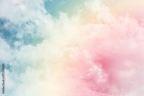 Foto Murales sun and cloud background with a pastel colored