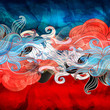 Abstract watercolor fantasy background