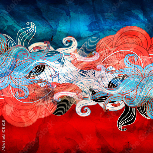 Aluminium Abstractie Abstract watercolor fantasy background