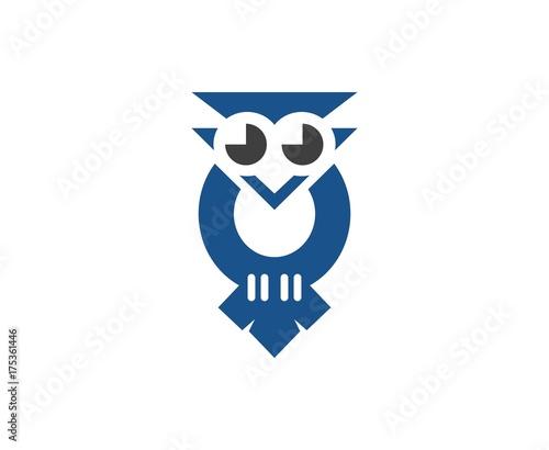 Deurstickers Uilen cartoon Owl logo