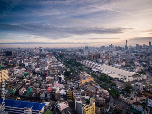 In de dag Bangkok Aerial of Thailand