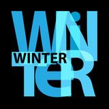 Vector winter. Broken text - 175365489