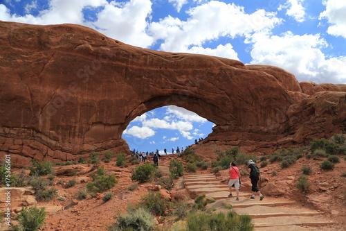 Fotobehang Diepbruine Arches National Park, Utah