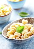 Dried pasta in a ceramic bowl - 175366487