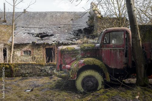 Fotobehang Trekker Old Truck
