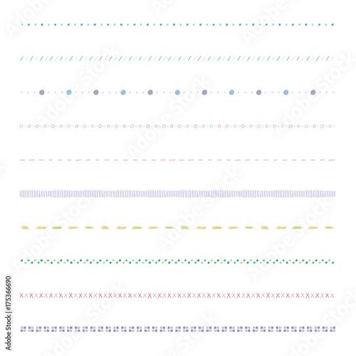 シンプル ラインセット / vector eps 10