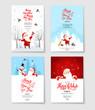 Santa party invitation set