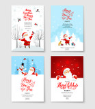 Santa party invitation set