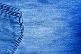The image of textures with pockets of blue denim fabrics for the background, patterns and creativity. - 175374012