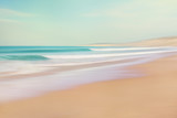 Sea and Sand Abstract. Image displays soft, pastel colors in a retro style. - 175377865