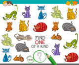 find one picture of a kind game with cartoon cats - 175378625