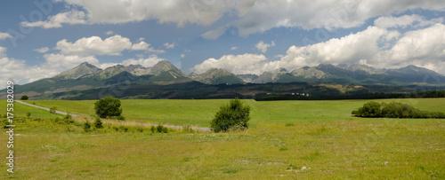 Wide panorama of High Tatras, Slovakia - 175382029