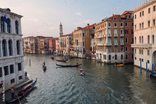 Deurstickers Venetie Venice / View of the river and city historical architecture