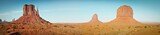 Panoramic View of Mitten Butes in Monument Valley