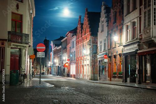 Aluminium Brugge Street of Brugge, Belgium