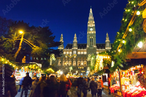 Christmas market in Vienna Poster