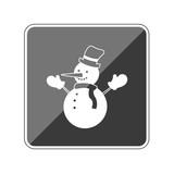 Schneemann - Reflektierender App Button - 175394694