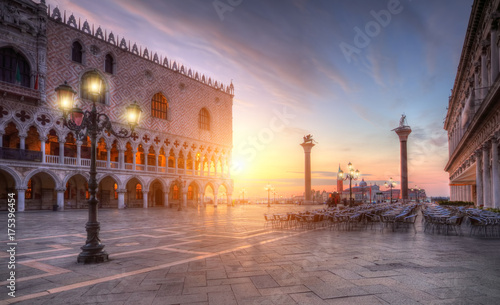 Tuinposter Venetie Famous st.Marco square in Venice, Italy