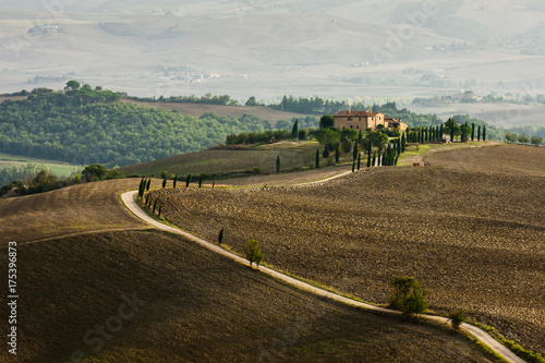 Deurstickers Toscane Tuscan landscape, Val d'Orcia, Tuscany, Italy