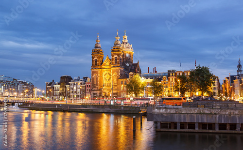 Foto op Aluminium Amsterdam Church of St Nicholas Amsterdam Netherland
