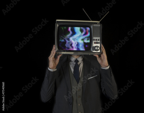 Poster tv head man