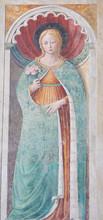 "Постер, картина, фотообои ""Fresco of Saint Fina in San Gimignano, Italy"""