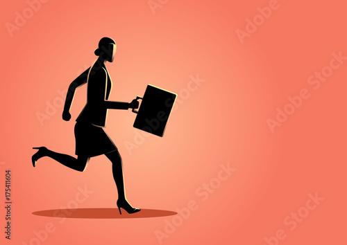 Businesswoman running forward