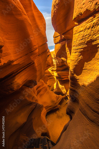 Deurstickers Rood traf. Antelope canyon, Arizona