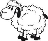 glücklich lustig klein süß niedlich comic cartoon schaf ziege wolle bauer bock müde cool - 175413027