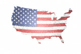 US Map and Flag