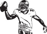 American football player illustration - 175419084