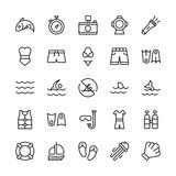 Swimming icon set.