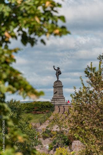 Foto op Canvas Canada Champlain Statue
