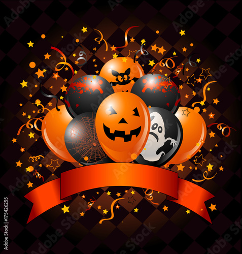 In de dag Sprookjeswereld Halloween Balloons Design