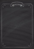 Vector retro menu blackboard background - 175426465