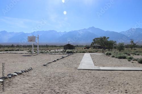 Keuken foto achterwand Donkergrijs Manzanar